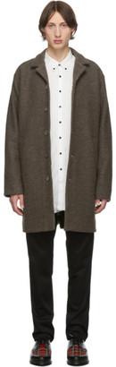 Schnaydermans Brown Unconstructed Virgin Wool Coat