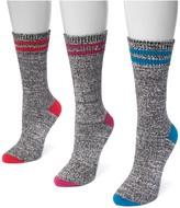 Muk Luks Microfiber Marled Print Socks - 3 Pairs
