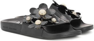 Marc Jacobs Flower-embellished slide sandals