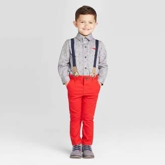 Cat & Jack Toddler Boys' 3Pc Valentines Day Shirt & Suspender - Cat & JackTM Charcoal