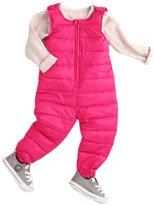 Pretty Moments® Children Kids Winter Zip Suspender Down Bibs Snow Pants Jumpsuit Navyblue