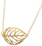 Lord & Taylor 18K Gold and Sterling Silver Leaf Pendant Necklace