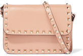 Valentino The Rockstud Mini Leather Shoulder Bag - Peach