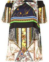 River Island Womens Plus white print bardot swing dress