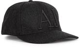 Armani Jeans Charcoal Logo-embroidered Wool Felt Cap