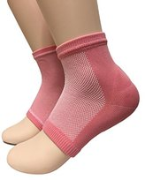 acebone Beauty Spa Moisturizing Gel Heel Socks Pedicure Socks for Dry Hard Cracked Skin - One Size - Comfortable Fit - Pink