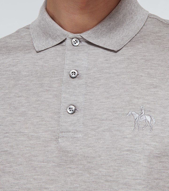 Thumbnail for your product : Ralph Lauren Purple Label Cotton long-sleeved polo shirt