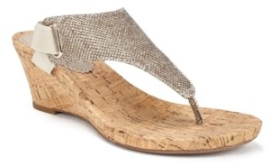 White Mountain Women's All Good Cork Wedge Sandals Women's Shoes