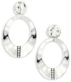 Ippolita SensoTM Diamond& Sterling Silver Wavy Oval Earrings