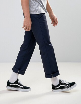 Dickies 873 work pant chino in straight fit-Navy
