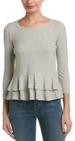 Rebecca Taylor Striped Knit T-shirt.
