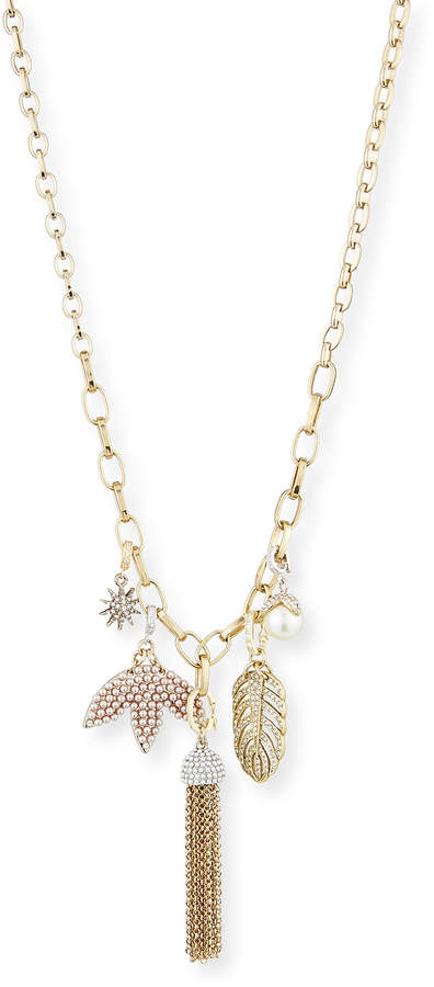 Lulu Frost Long Pearly Mixed-Charm Chain Necklace