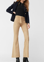 MANGO Faux Suede Flare Trousers