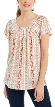 Style&Co. Style & Co Ruched-Neck Tunic Top, Created for Macy's