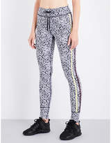 The Upside Ladies Black Floral Ditsy Floral-Print Stretch-Jersey Leggings