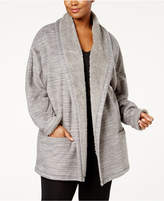 Hue Plus Size Cozy Open-Front Robe