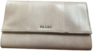 Prada Pink Exotic leathers Wallets