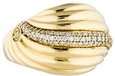 David Yurman 18K Diamond Sculpted Cable Cocktail Ring