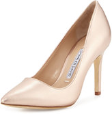 Charles David Donnie Leather Pointed-Toe Pump, Rose Gold