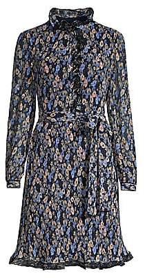 Tory Burch Women's Deneuve Ruffle-Trim Floral Dress