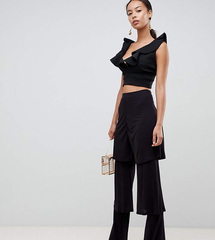 Asos Tall DESIGN Tall tiered ruffle trousers