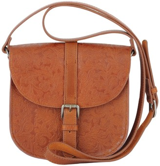 Most Wanted Design by Carlos Souza Evelyn Embossed Leather Saddle Bag