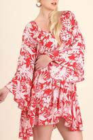 Umgee USA Floral Bell Sleeve Dress