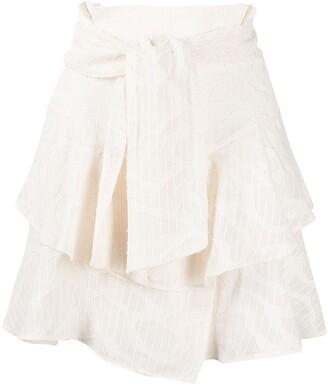 IRO Rakley tie waist skirt