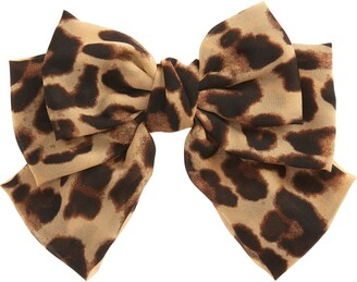 Tasha Leopard Print Bow Barrette