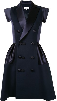 Dice Kayek Panelled Double-Breasted Coat