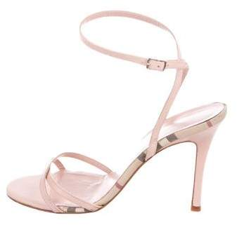 Burberry Leather Ankle-Strap Sandals