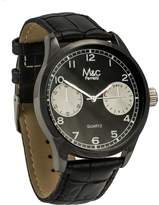 MC M&c Ferretti Men's | Gunmetal Croc Leather Chronograph Dial Watch | FT14702
