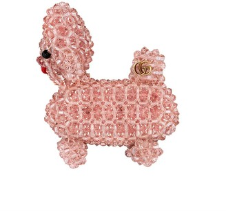 Gucci Bead-Embroidered Dog Brooch