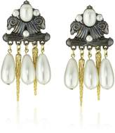 Fallon Regency Faux Pearl Drop Earrings