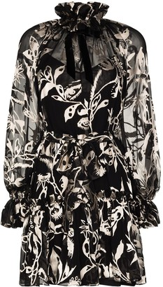 Zimmermann Ladybeetle tie-neck mini dress