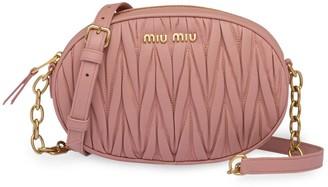 Miu Miu matelassé nappa leather bandoleer bag