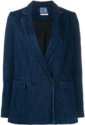 Forte Forte Double-Breasted Denim Blazer