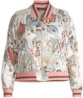 Marina Rinaldi Marina Rinaldi, Plus Size Reversible Floral-Print Bomber Jacket