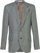 Brunello Cucinelli single breasted blazer - men - Silk/Linen/Flax/Wool - 48