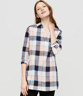 Lou & Grey Plaid Pocket Pop-On Tunic