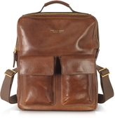 The Bridge Sfoderata Marrone Leather Backpack