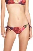 Ted Baker Women's 'Juxtapose Rose' Side Tie Bikini Bottoms