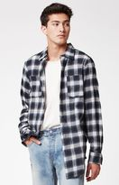 Civil Regime Plaid Flannel Long Sleeve Button Up Shirt