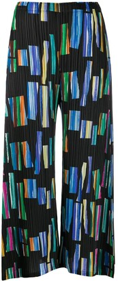 Pleats Please Issey Miyake Hopscotch Colours printed culottes