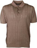 Corneliani Embroidered Stripe Polo Shirt