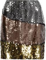 Moschino Sequined silk mini skirt