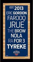 "Steiner Sports New Orleans Pelicans 19"" x 9.5"" Vintage Subway Sign"