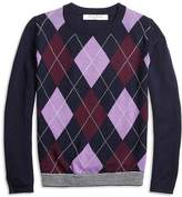Brooks Brothers Merino Wool Blend Argyle Sweater