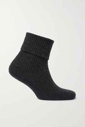 Johnstons of Elgin Cashmere Socks - Charcoal