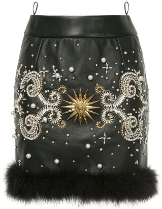 Fausto Puglisi Jewelled Mini Skirt